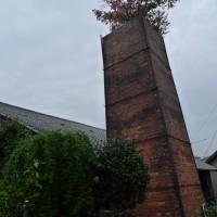 街に残る煙突は皆使われていません。朽ちているものや木が生えている姿はシュールな光景でした。