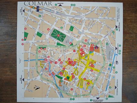 コルマールの地図。
